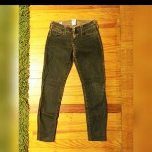 Ladies True Religion coated ankle jeans. Sz- 24/26